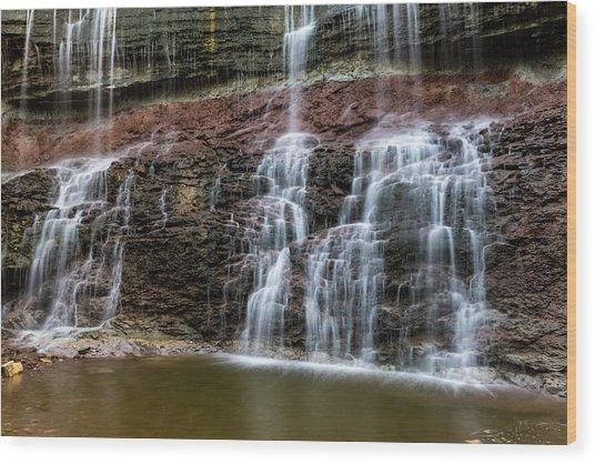Kansas Waterfall 3 Wood Print