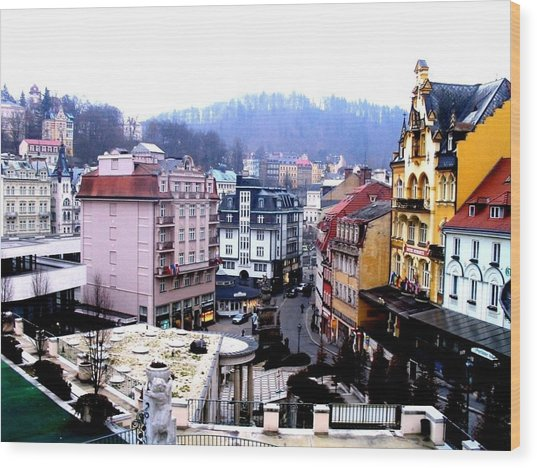 Wood Print featuring the photograph Karlovy Vary Cz by Michelle Dallocchio