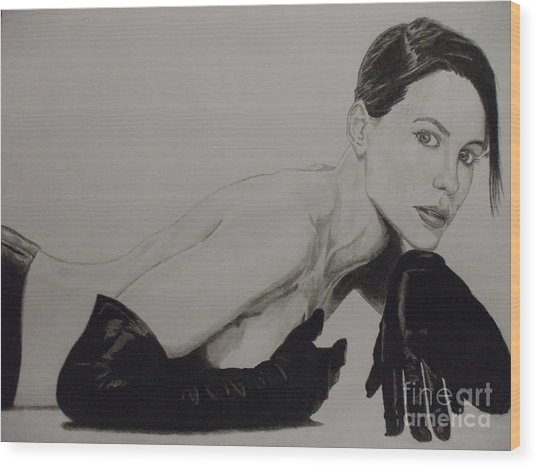 Kate Beckinsale Wood Print by John Prestipino