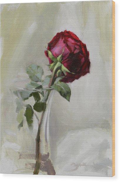 Big Rose Wood Print