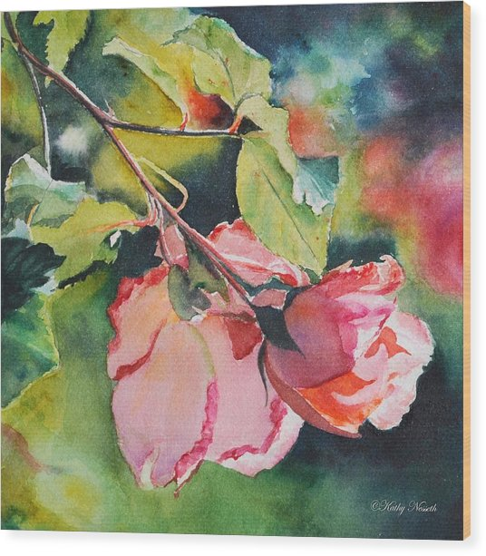 Kathy's Roses Wood Print by Kathy Nesseth