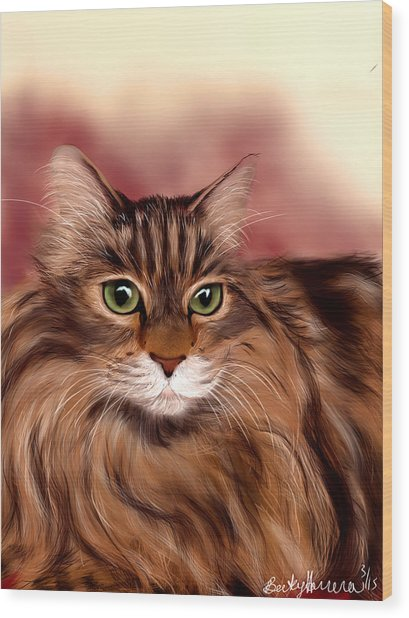 Katie- Custom Cat Portrait Wood Print
