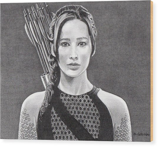 Katniss Wood Print