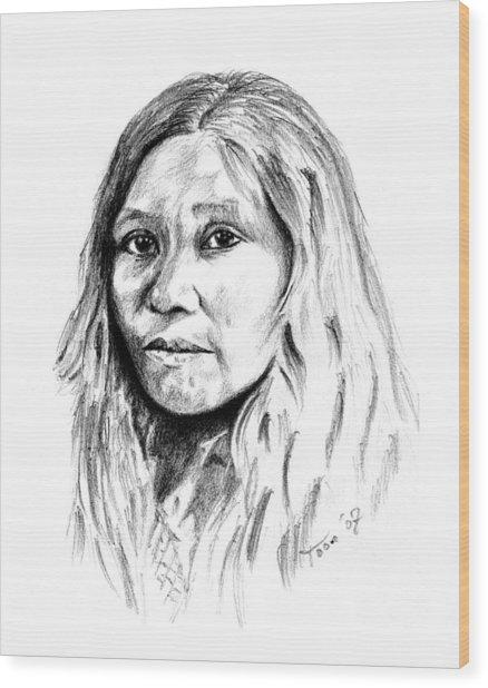Kato Woman Wood Print