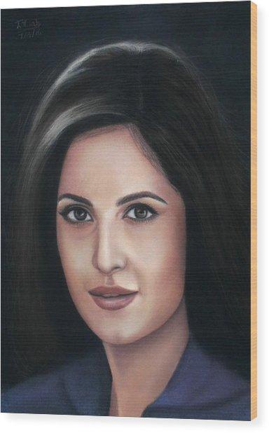 Katrina Kaif - Pastel Wood Print