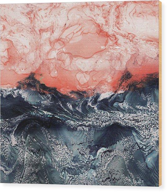 Katrina Wood Print by Paul Tokarski
