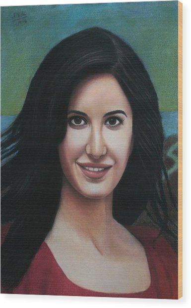 Katrina - The Beauty Of India Wood Print