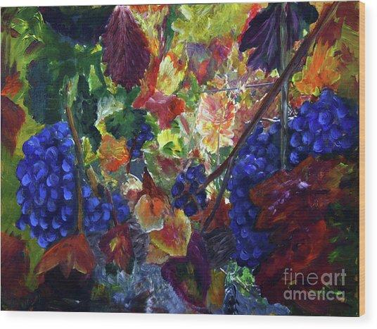 Katy's Grapes Wood Print