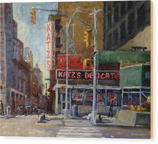 Katz's Delicatessen, New York City Wood Print