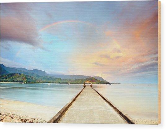 Kauai Hanalei Pier Wood Print