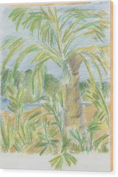 Kauai Palms Wood Print