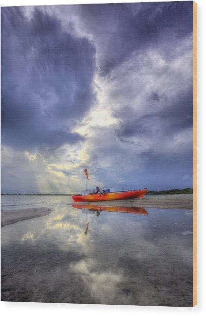 Kayak Panama City Beach Wood Print by JC Findley