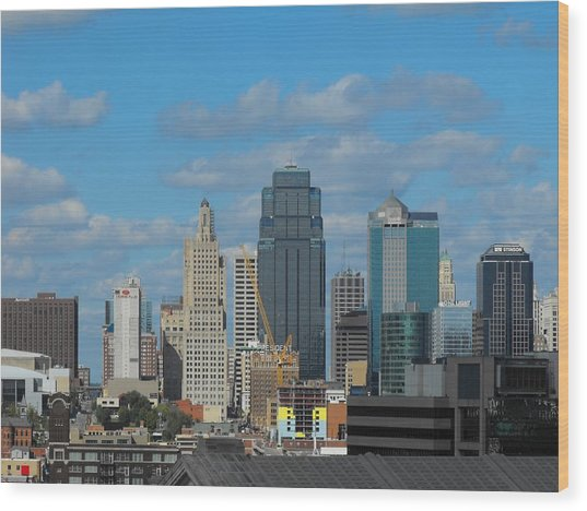 Kc Is Booming Wood Print