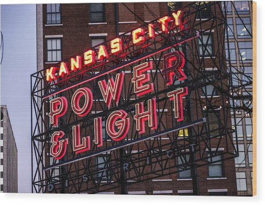 Kc Power And Light Wood Print
