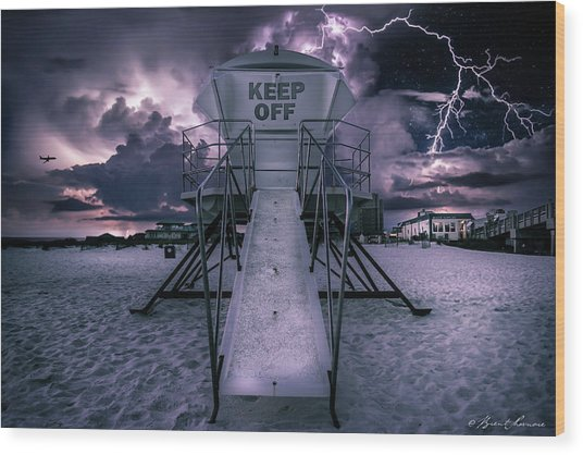 Keep Off Wood Print by Brent Shavnore