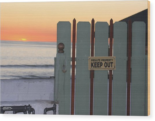 Keep Out Wood Print