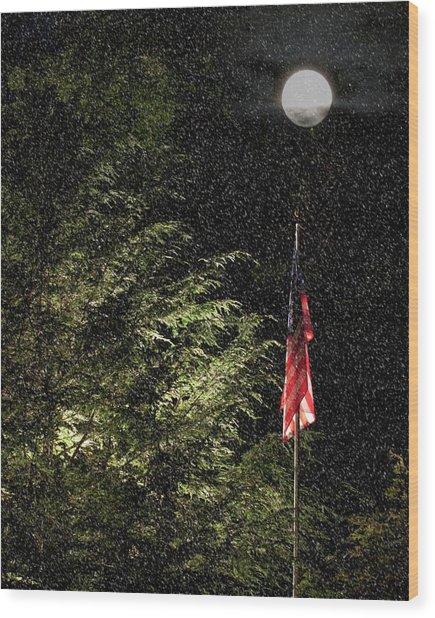 Keeping America  Illuminated.  Wood Print