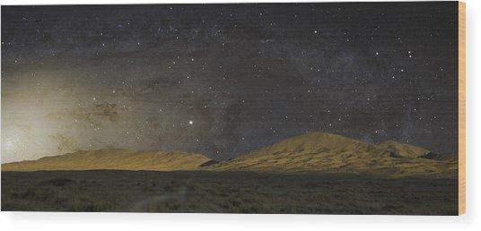 Kelso Dunes One Wood Print
