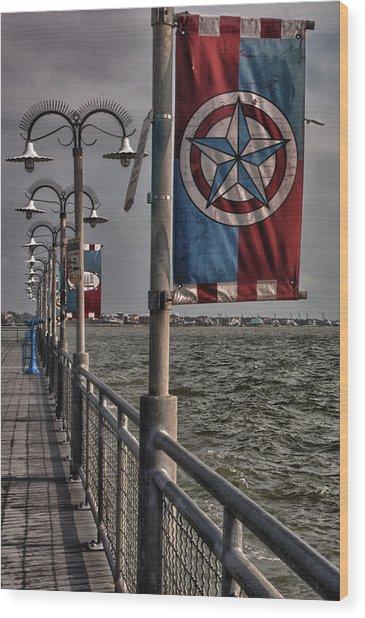 Kemah Boardwalk Wood Print