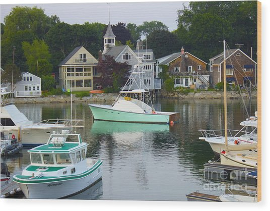 Kennebunkport Harbor Wood Print