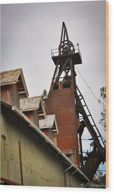 Kennedy Mine Headframe Wood Print