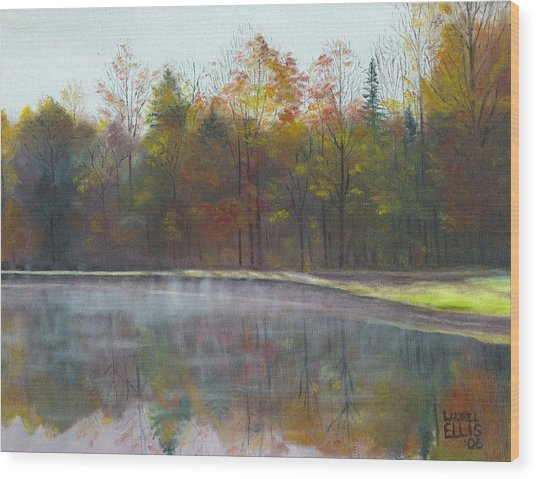 Kennison Pond  Wood Print by Laurel Ellis