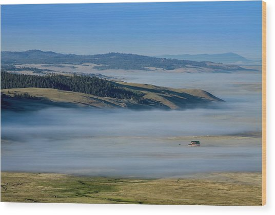 Kenosha Pass Clouds Wood Print