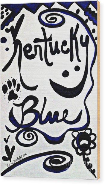 Kentucky Blue Wood Print