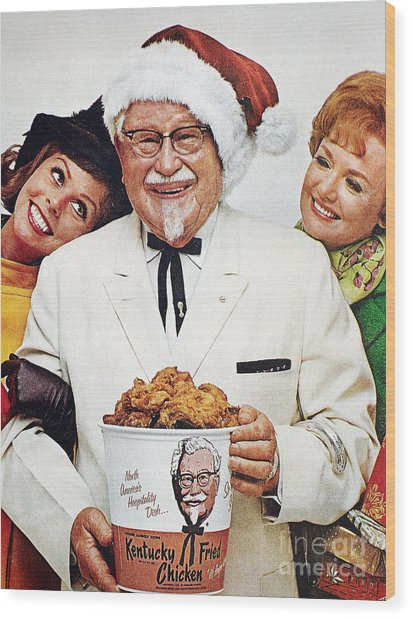Kentucky Fried Chicken Ad Wood Print by Granger