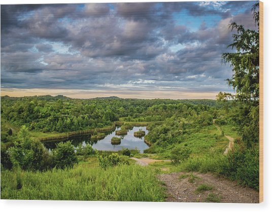 Kentucky Hills And Lake Wood Print