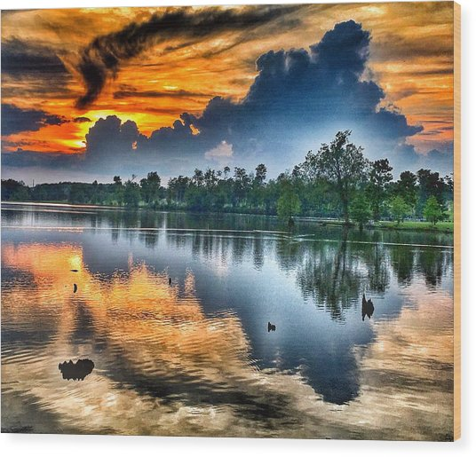 Kentucky Sunset June 2016 Wood Print