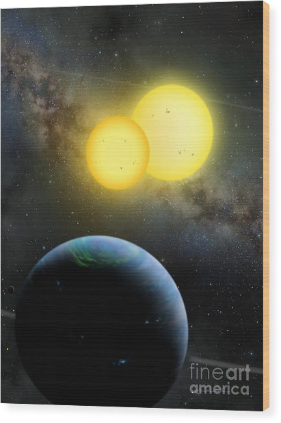 Kepler-35 Wood Print
