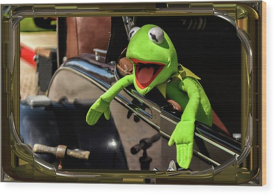 Kermit In Model T Wood Print