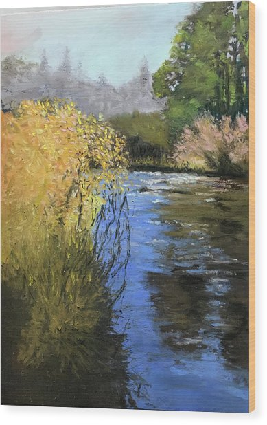 Kern River On A Fall Day Wood Print