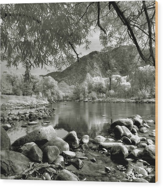 Kern River Park Wood Print
