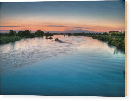 Kern River Sunrise Wood Print
