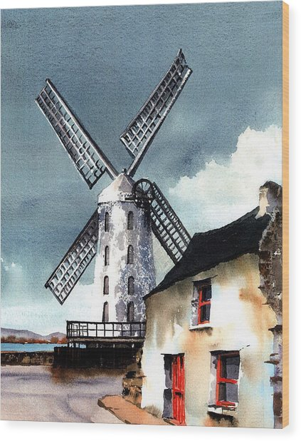 Kerry Windmill At Blennerville Wood Print