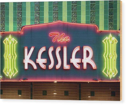 Kessler Theater 042817 Wood Print