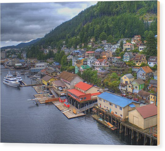 Ketchikan Alaska Wood Print
