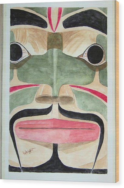 Ketchikan Native Wood Print by Larry Wright