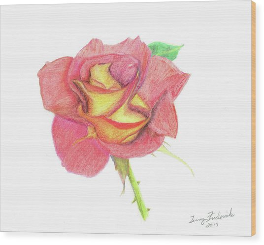 Ketchup And Mustard Rose Wood Print