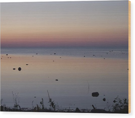 Kettle Point Sunset Wood Print