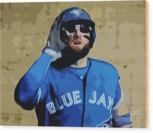 Kevin Pillar Wood Print