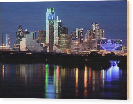 Kevin's Dallas Skyline Wood Print