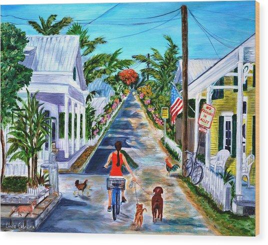 Key West Lane Wood Print