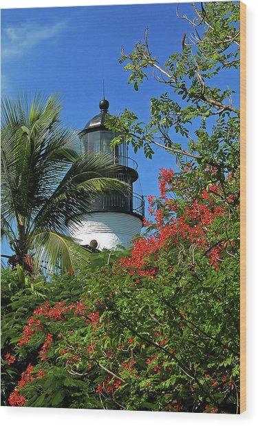 Key West Lighthouse Wood Print by Frank Mari