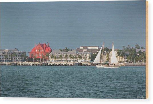 Key West Shoreline Wood Print