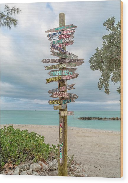 Key West Where Do We Go From Here Wood Print