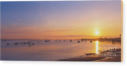 Keyport Harbor Sunrise  Wood Print