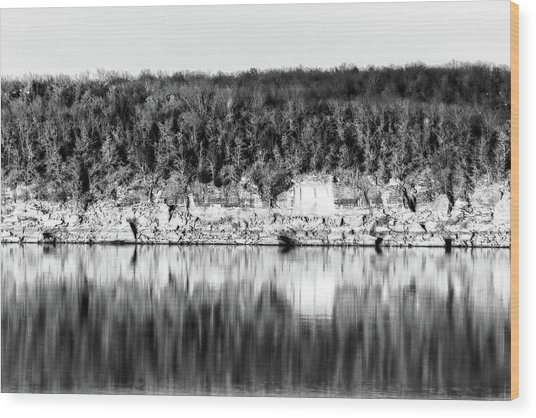 Keystone Reflected Wood Print